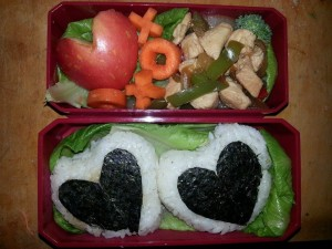 A cute bento all set for Valentine's Day <3